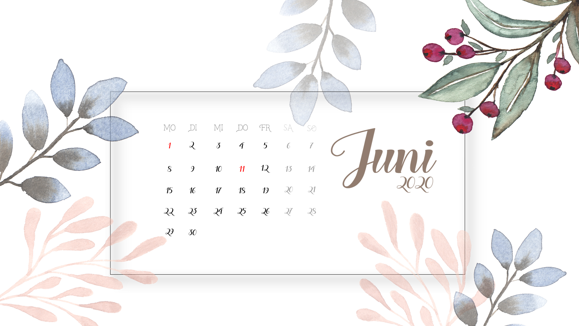 Hintergrund Juni