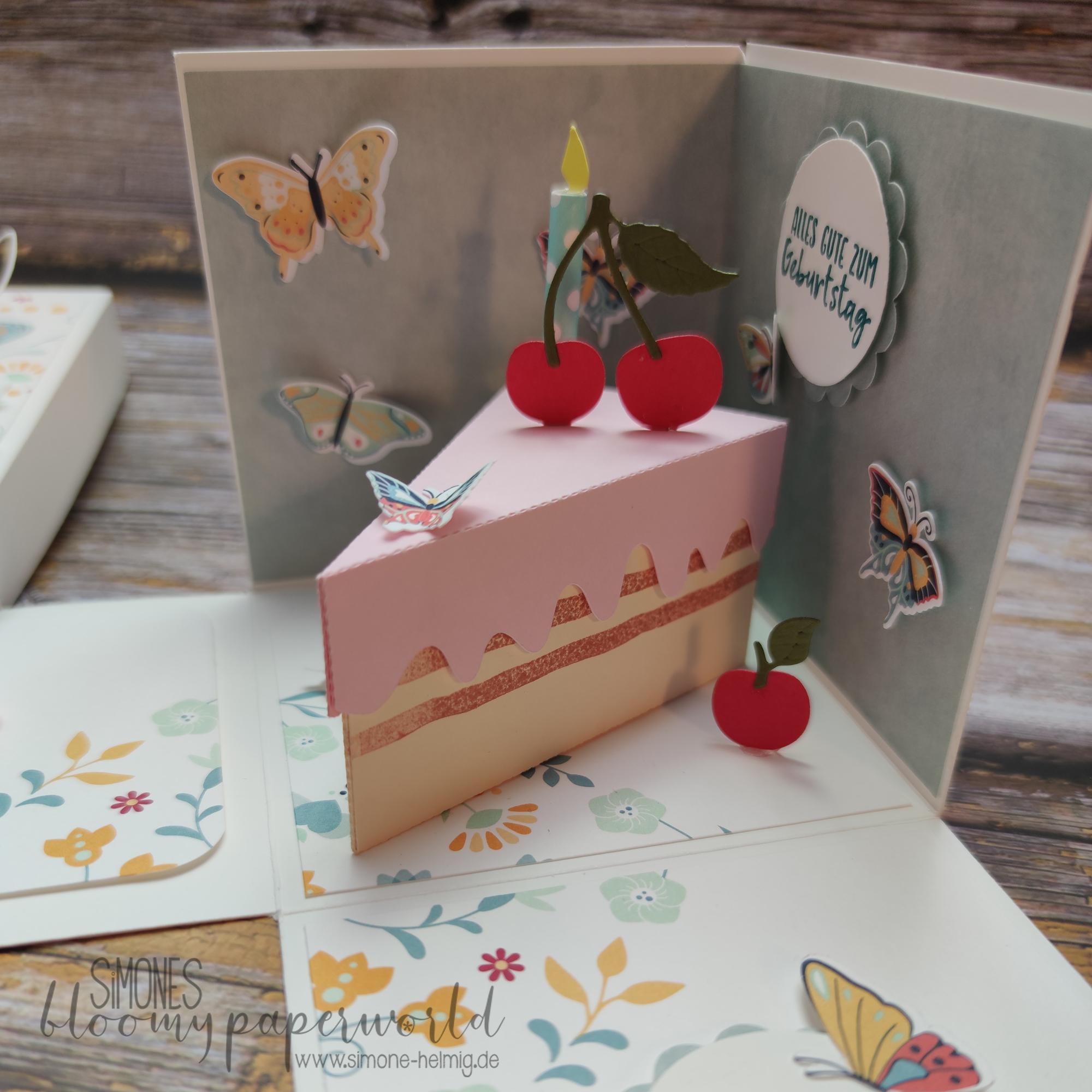 Kirschtorte und Schmetterlinge zum Geburtstag